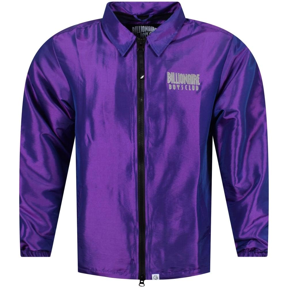 d4b7889d80e5 BILLIONAIRE BOYS CLUB Billionaire Boys Club Purple Zip Coach Jacket ...