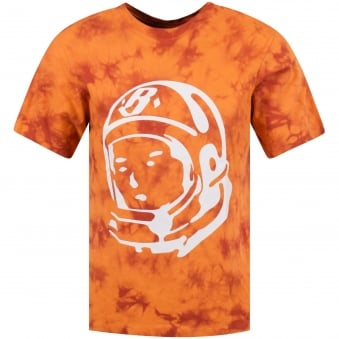 Billionaire Boys Club Red/Orange Bleached Astronaut Logo T-Shirt