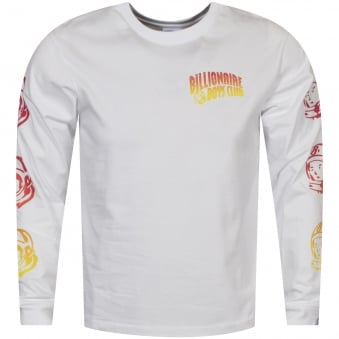 Billionaire Boys Club White/Multi Logo Long Sleeve T-Shirt