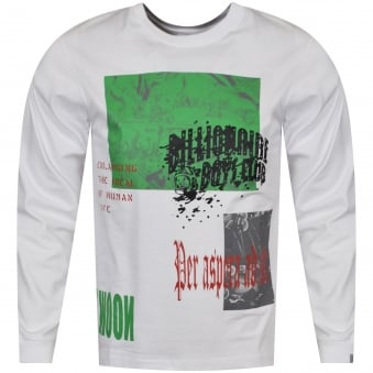 Billionaire Boys Club White/Multi Space Collage Long Sleeve T-Shirt
