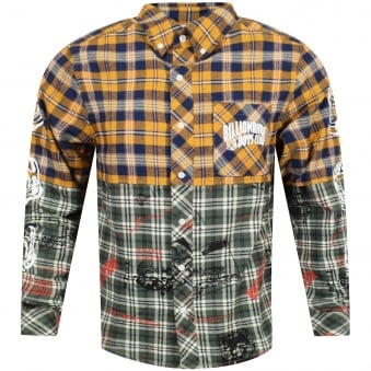 Billionaire Boys Club Yellow/Green Two-Tone Flannel Shirt