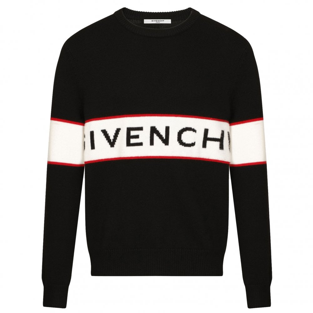 GIVENCHY Black Band Heavy Knit Sweater - Men from Brother2Brother UK 7fe3bf85374a