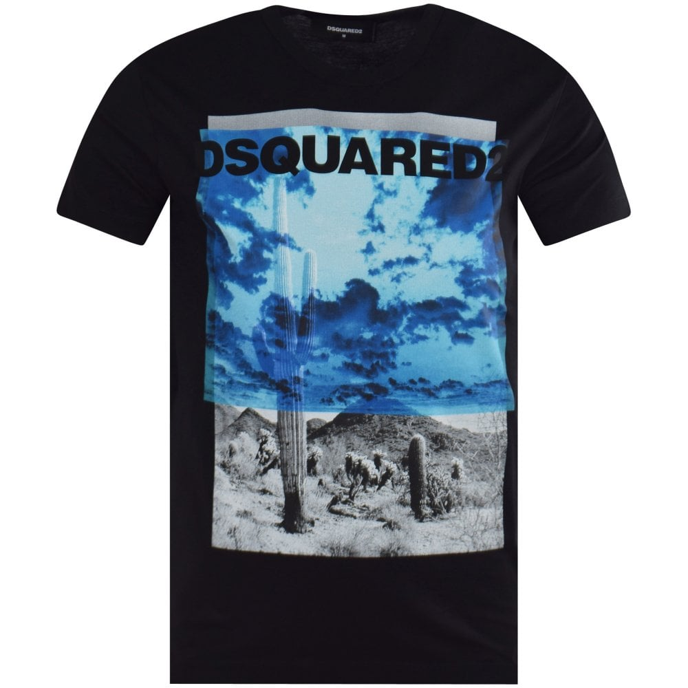 9713d75089 DSQUARED2 Black Cactus Print T-Shirt - Men from Brother2Brother UK