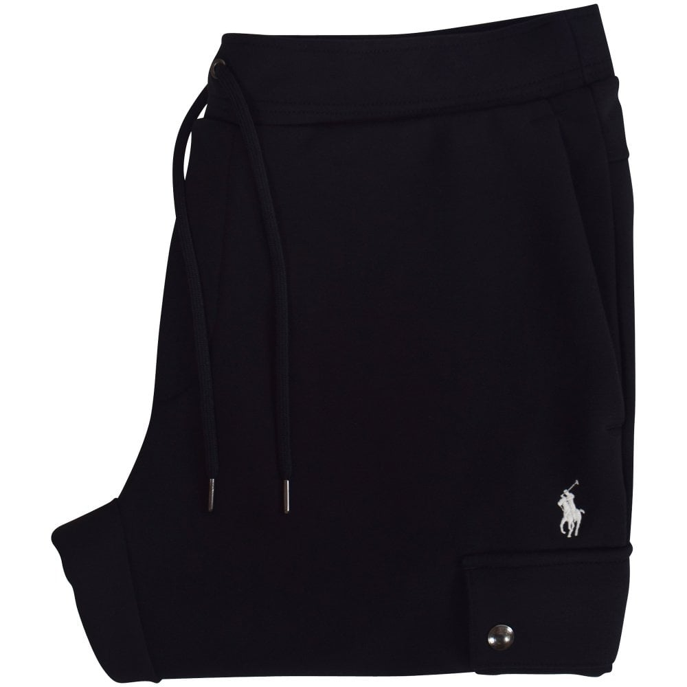 4418706ae POLO RALPH LAUREN Black Cargo Double-Knit Joggers - Jogging Bottoms ...