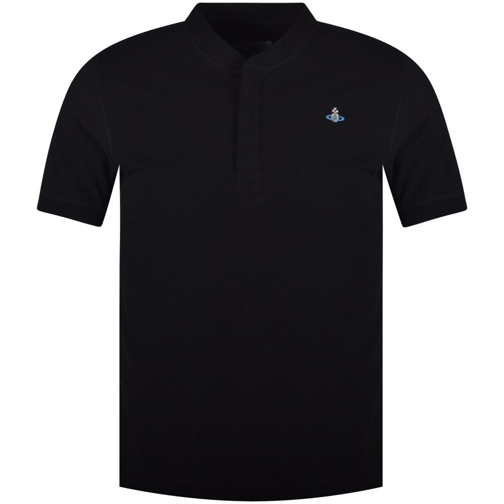 b04f7ed7 VIVIENNE WESTWOOD Black Collarless Polo Shirt - Department from ...