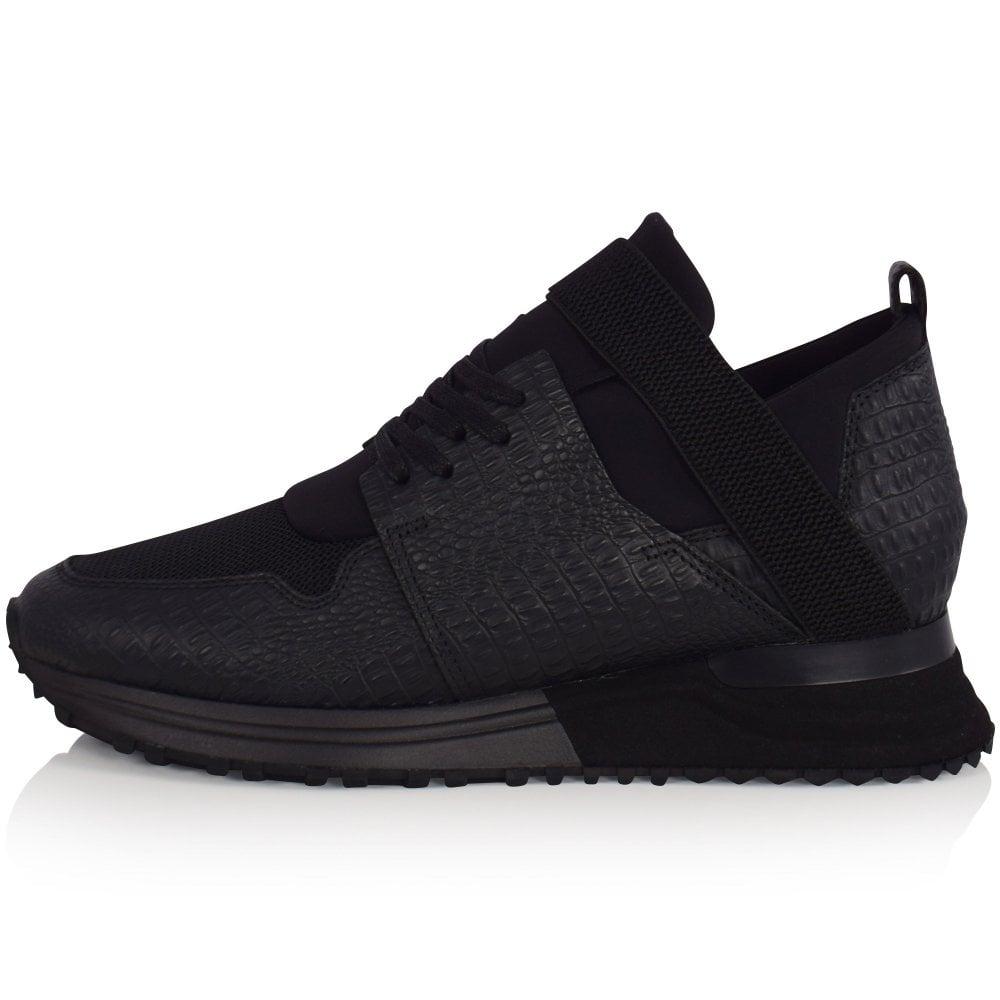MALLET FOOTWEAR Black Croc Elast 2.0