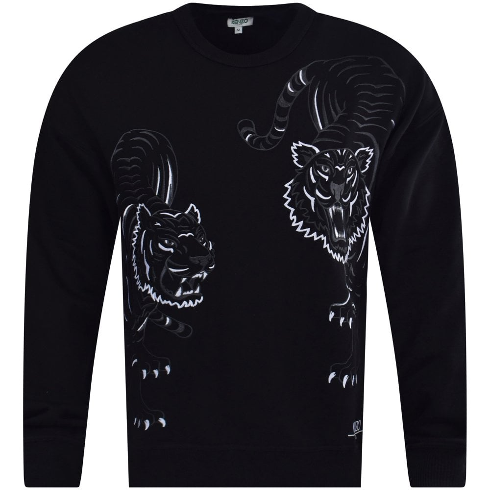 2b307ddffa81 KENZO Black Double Tiger Sweatshirt - Men from Brother2Brother UK