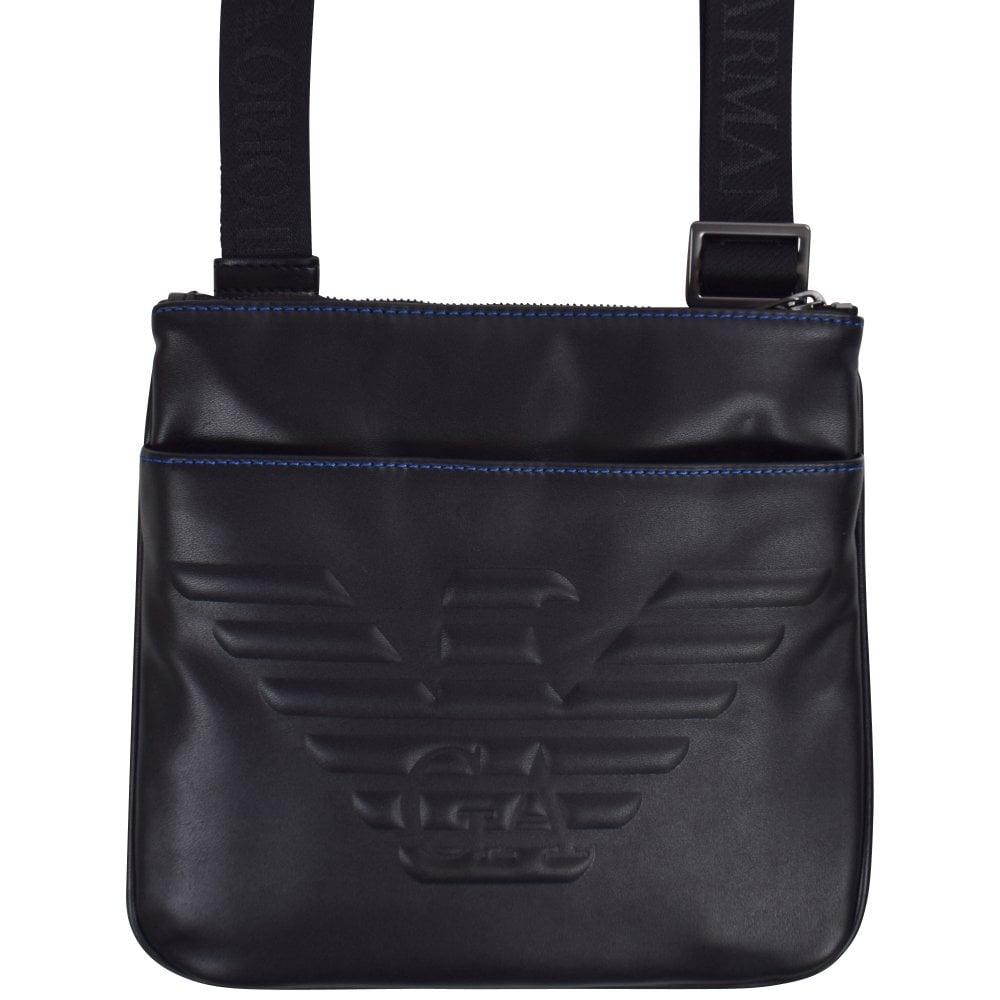 e9690a428d Black Embossed Eagle Crossbody Bag