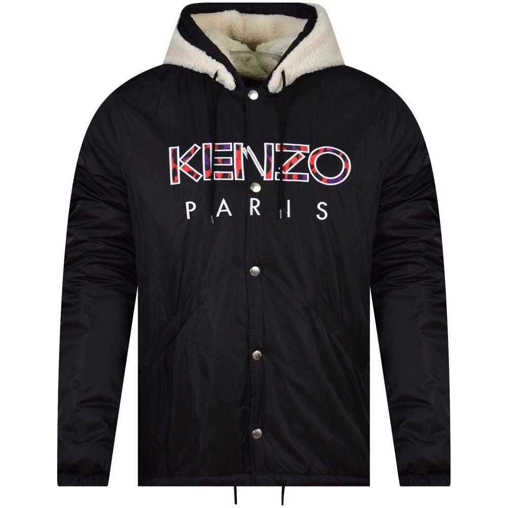 986772441 KENZO Black Fur Parka Jacket - Men from Brother2Brother UK