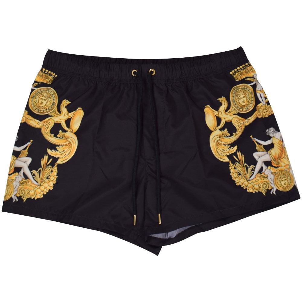 b0fcbcc2df VERSACE Black/Gold Barocco Swim Shorts - Department from ...