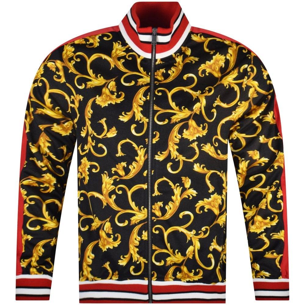 f17090cac0 VERSACE Black/Gold Baroque Print Zip Jacket