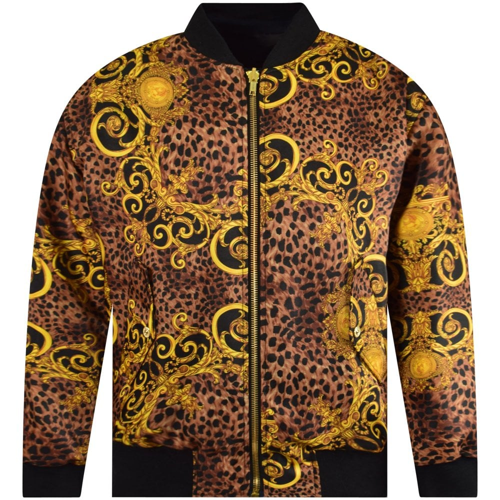 7fdaaab36 Black/Gold Leo Baroque Reversible Jacket