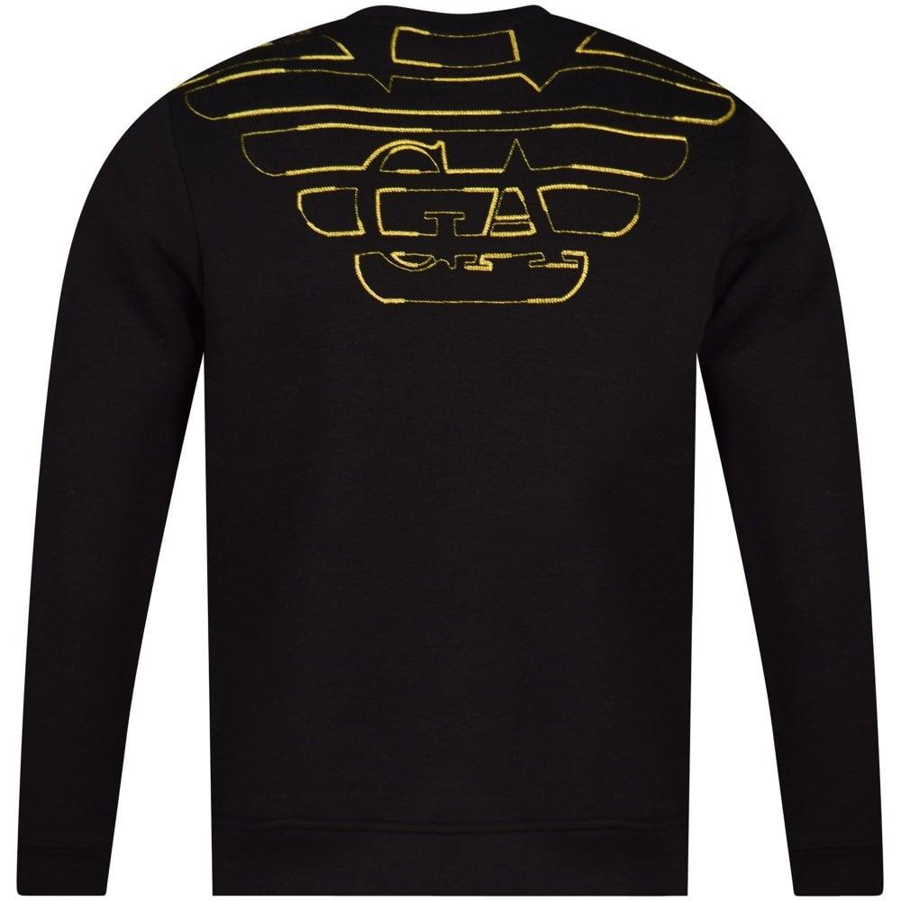 13c30bee Black/Gold Reverse Logo Sweatshirt