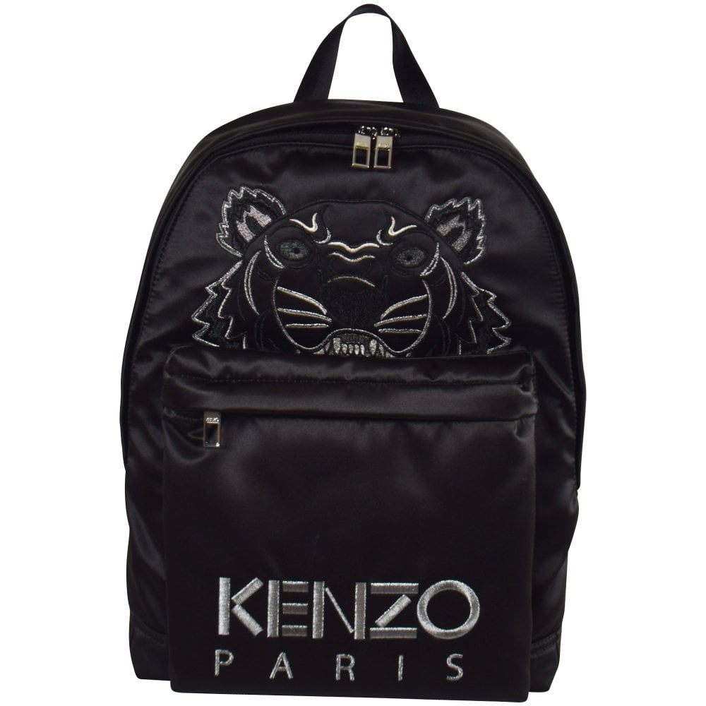 b8e4d266818 KENZO Black Holiday Capsule Satin Tiger Backpack - Men from Brother2Brother  UK