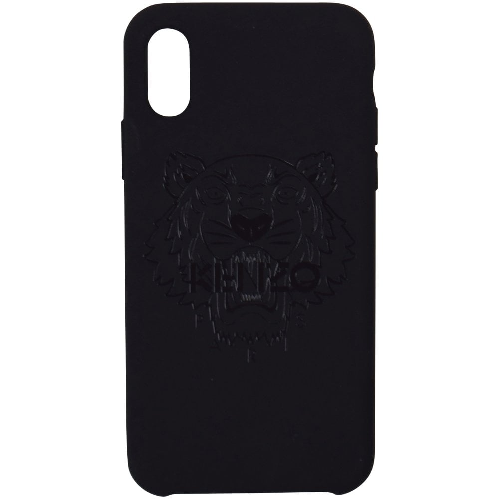 new style d364b 0627d KENZO Black iPhone X Tiger Case