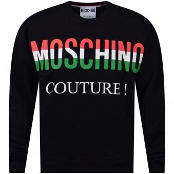db5d1079 Black Italian Logo Sweatshirt. MOSCHINO ...