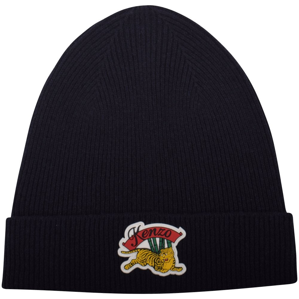 KENZO Black Jumping Tiger Beanie Hat - Men from Brother2Brother UK d33ea024f4f