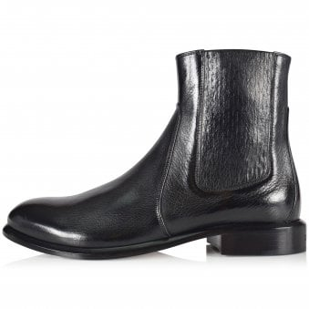 GIVENCHY Black Leather Cruz Chelsea Boots