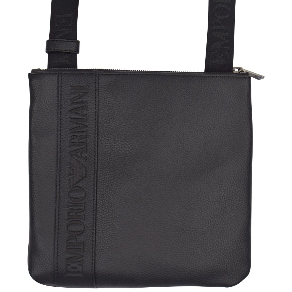 2562a80c Black Leather Logo Shoulder Bag