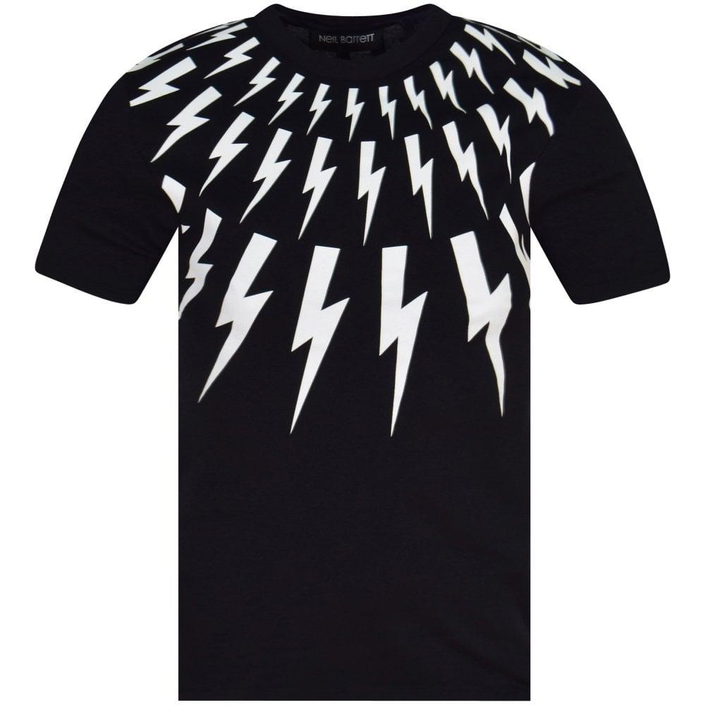f92045f0 NEIL BARRETT Black Lightning Bolt T-Shirt - T-Shirts from ...