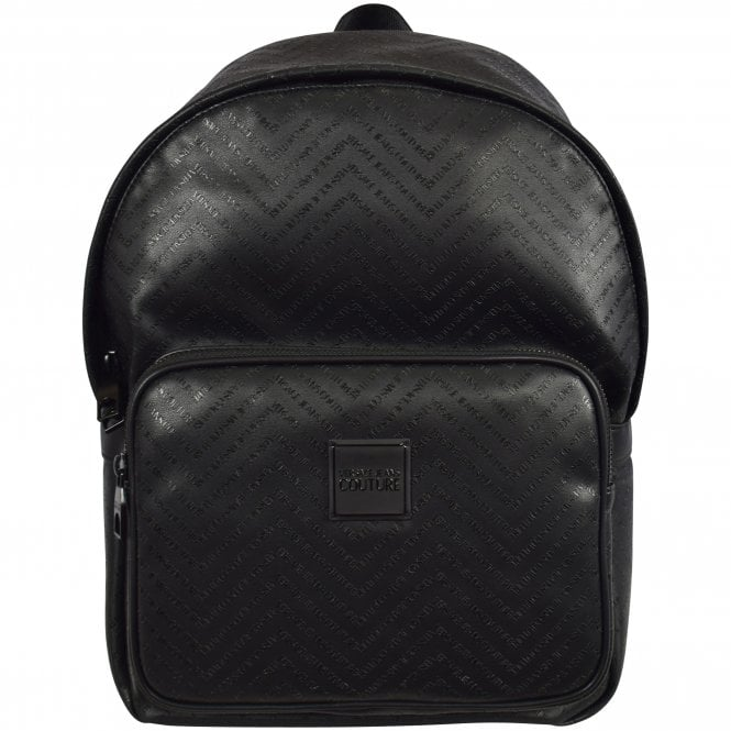 193bff4326 VERSACE JEANS COUTURE Black Linea Chevron Backpack - Department from ...