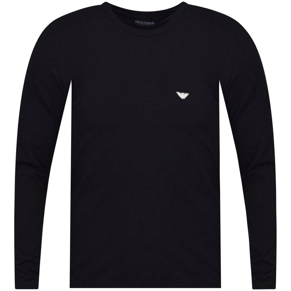 c675c26b EMPORIO ARMANI UNDERWEAR Black Logo Long Sleeve T-Shirt - Department ...