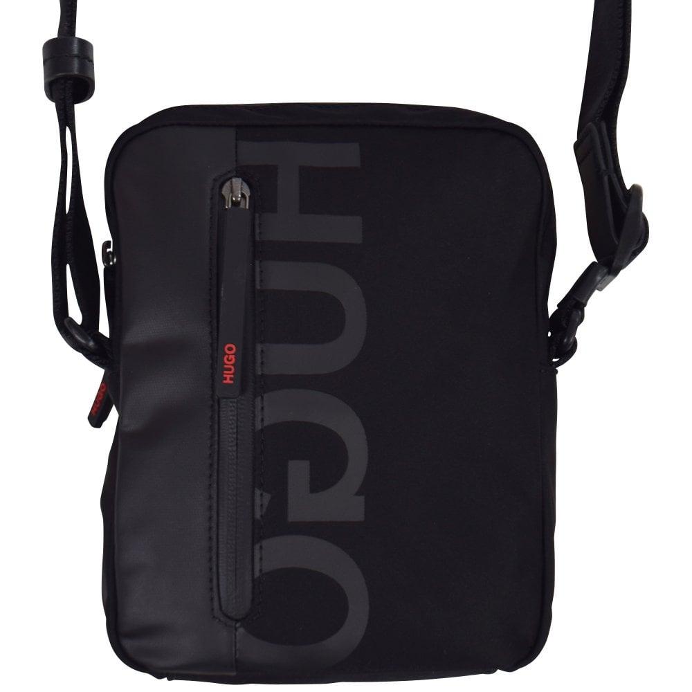 296180d41e HUGO Black Logo Shoulder Bag - Department from Brother2Brother UK