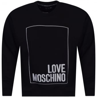 Black Love Moschino Crew Neck Sweatshirt