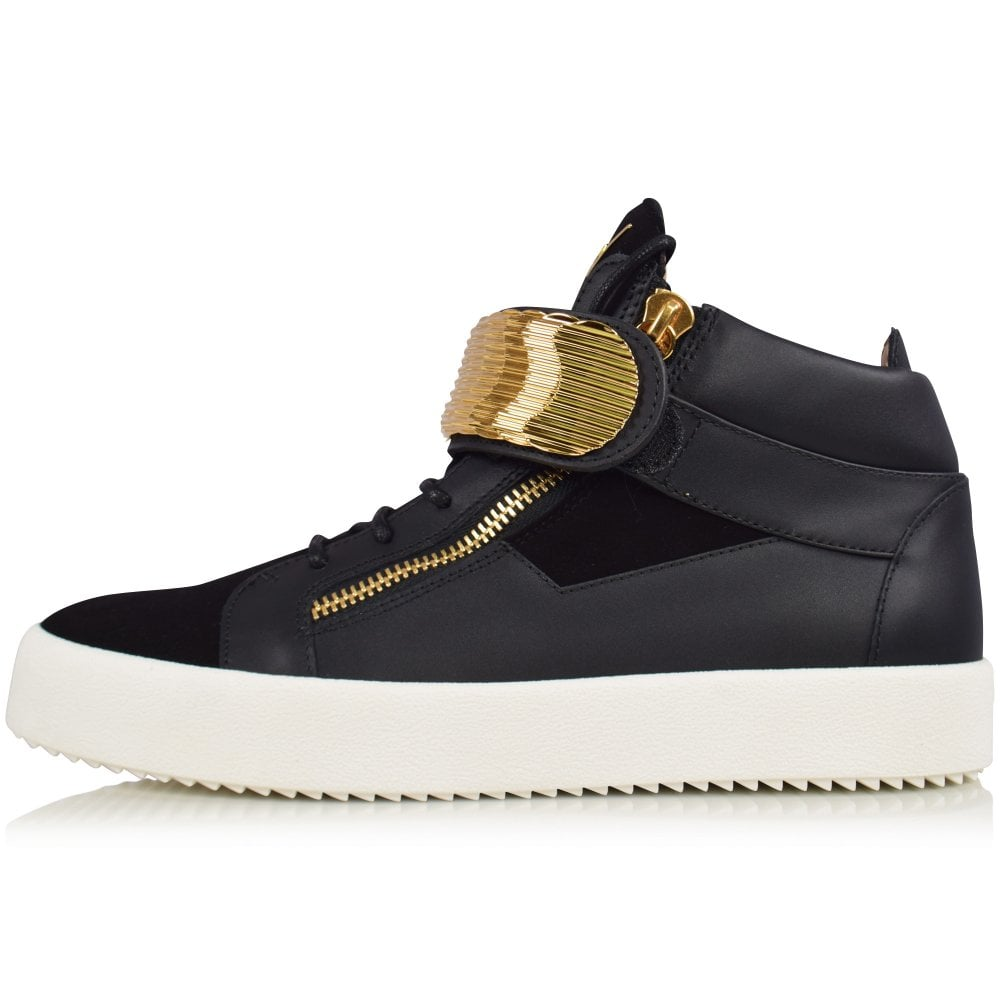 4dcd867aef9f6 GIUSEPPE ZANOTTI Black May London Mid-Top Trainers - Men from ...