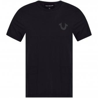 0d88a4d12ffe9 Black/Metallic Logo T-Shirt · TRUE RELIGION ...