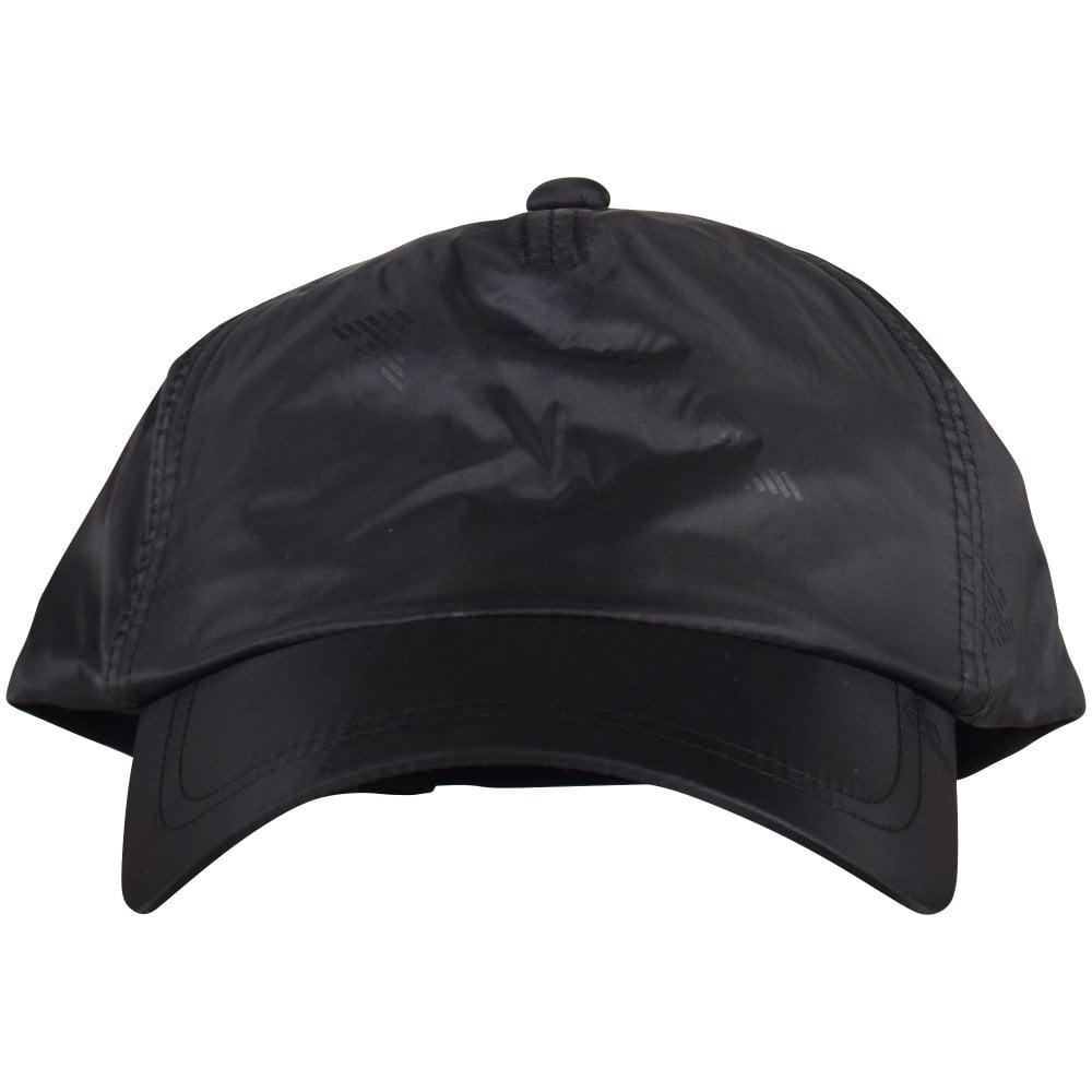 7271fd53 EMPORIO ARMANI Black Multi Eagle Nylon Cap - Department from ...