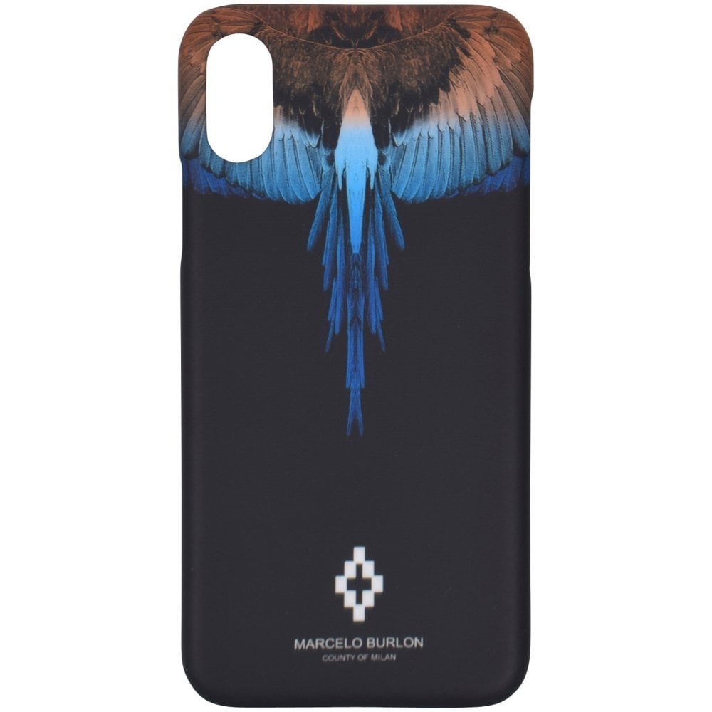 newest collection 05213 acd82 Black/Multi iPhone X Wings Phone Case