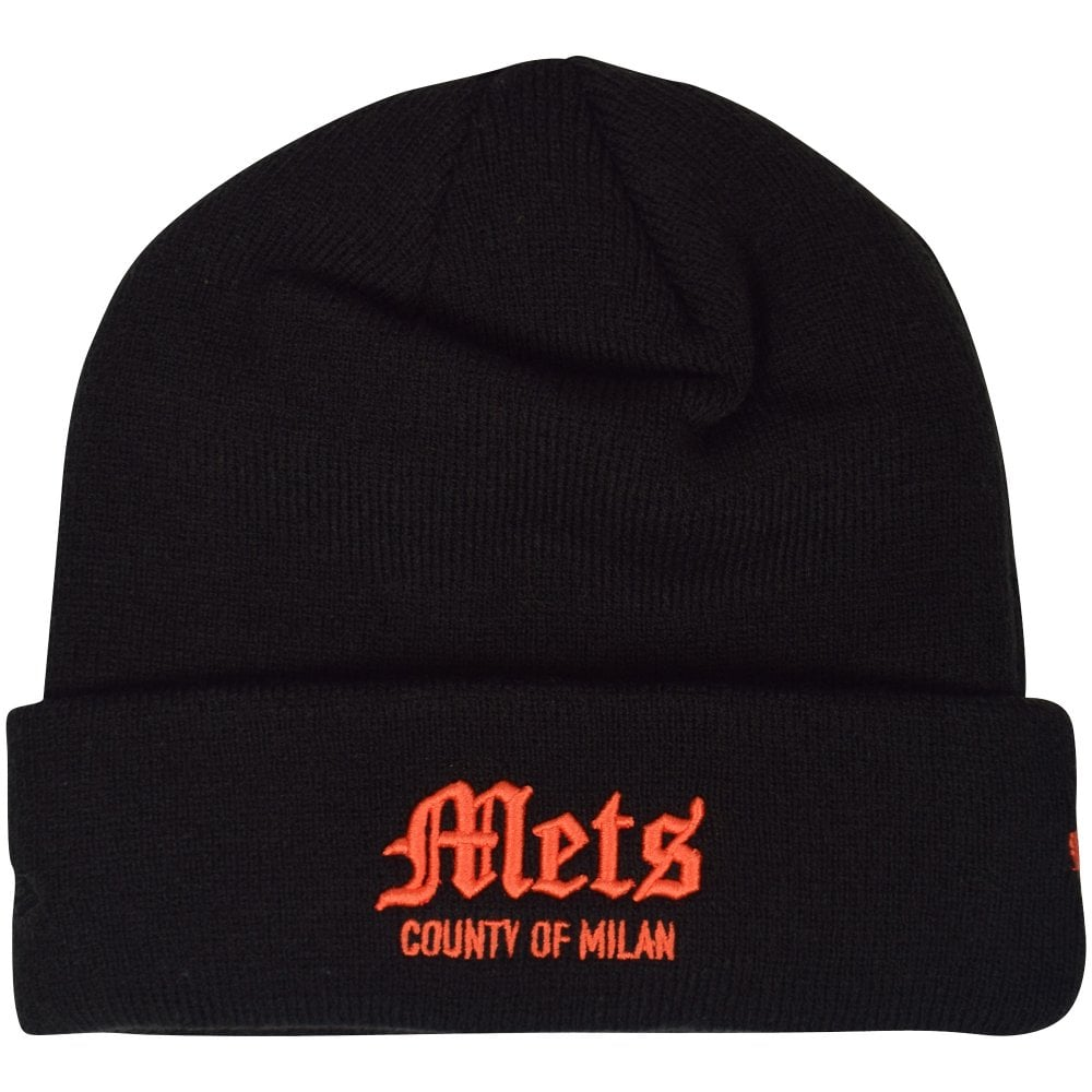 MARCELO BURLON Black NY Mets Beanie Hat - Men from Brother2Brother UK ea8ff963327