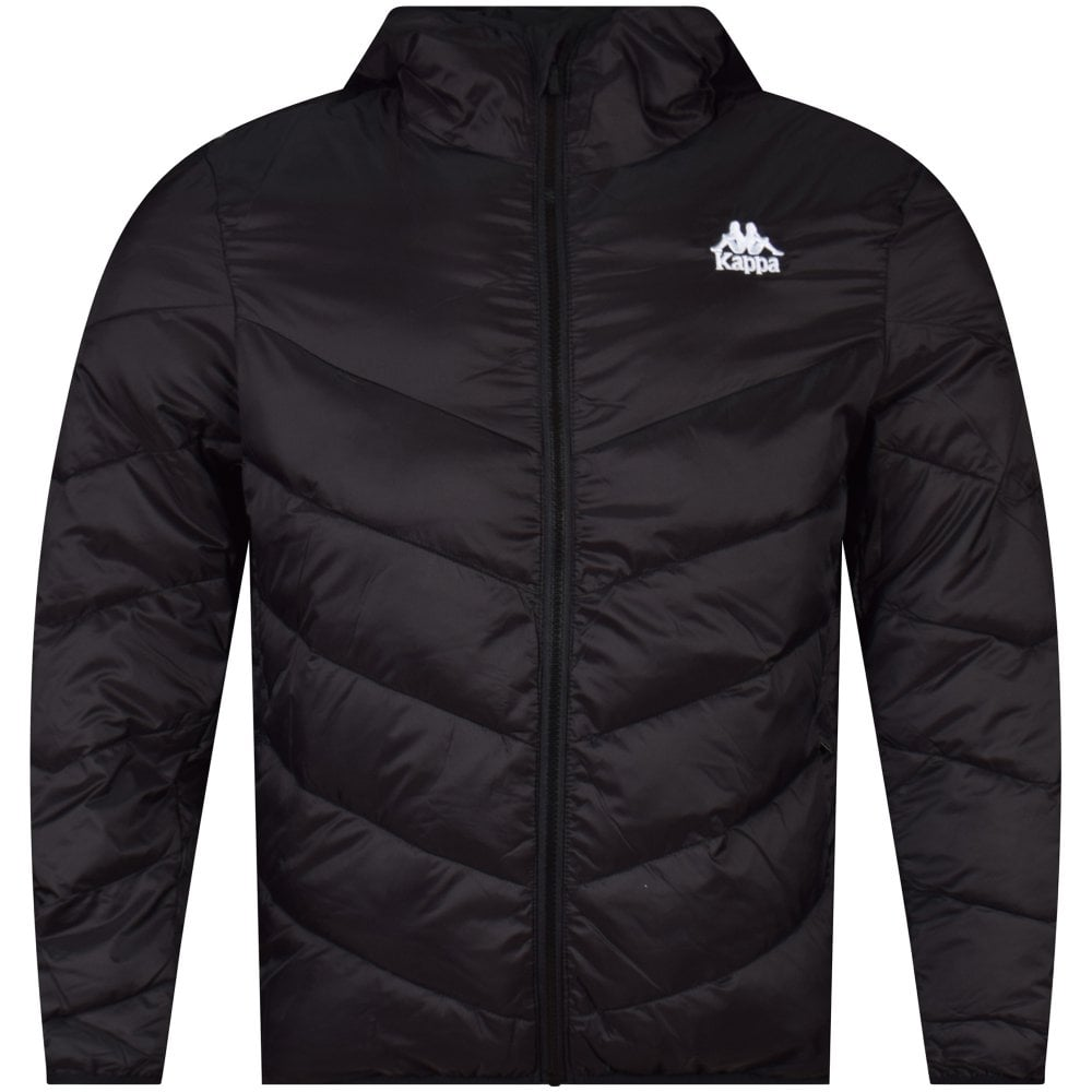 9d1787be1 KAPPA Black Padded Hooded Jacket - Men from Brother2Brother UK