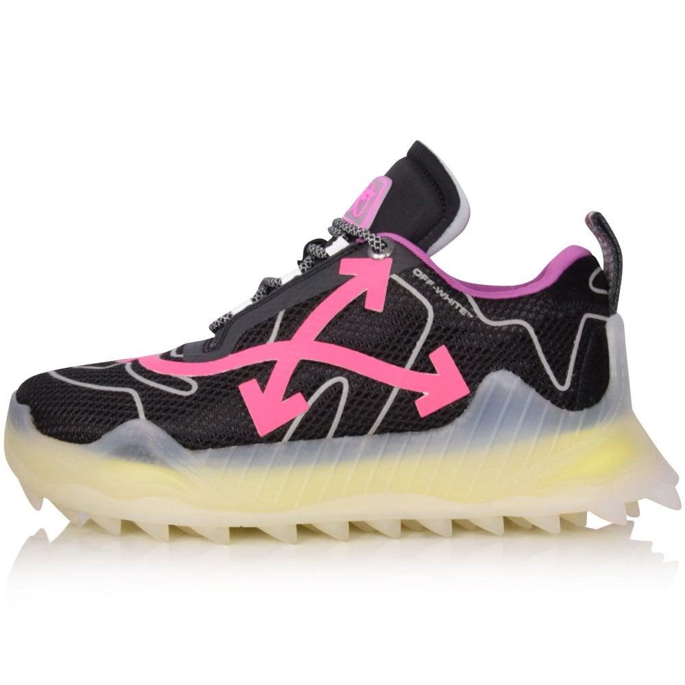 Black \u0026 Pink Odsy Mesh Sneakers - Men