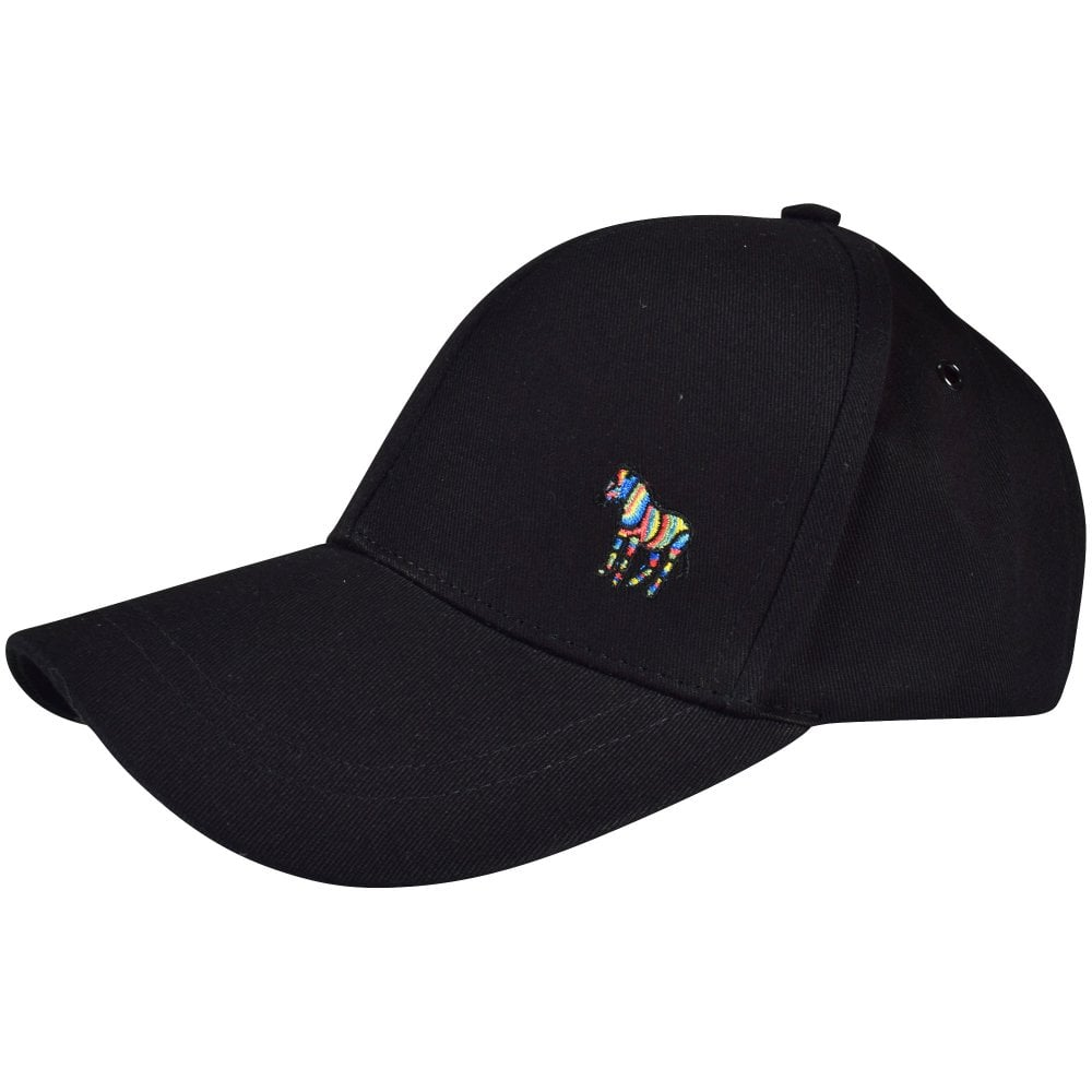 6b613e5a750 PS PAUL SMITH Black PS Zebra Baseball Cap - Men from Brother2Brother UK