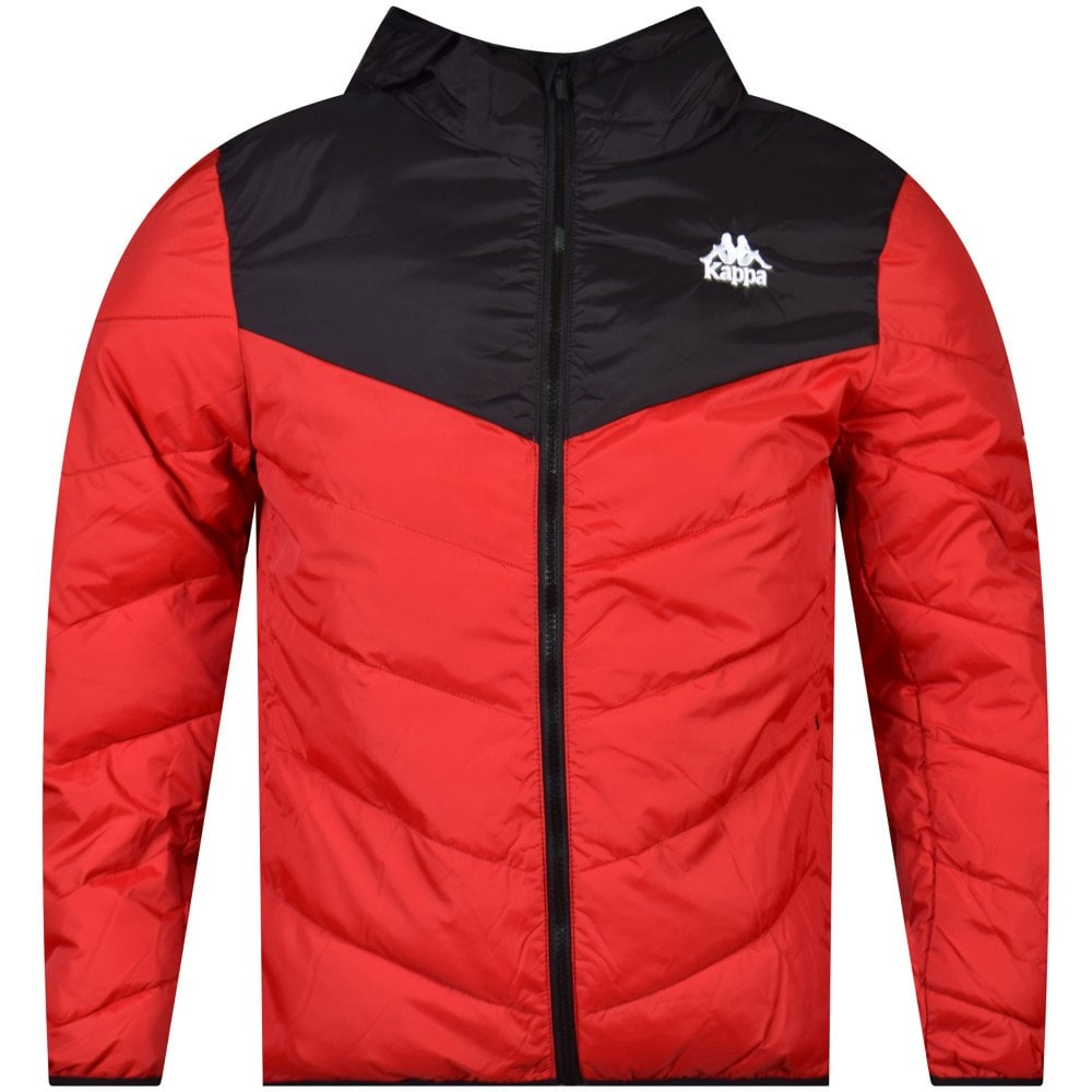 eed17cc7c KAPPA Black/Red Padded Hooded Jacket - Men from Brother2Brother UK