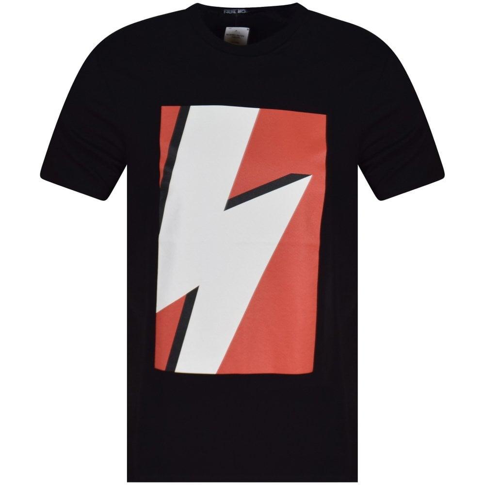 d3af0c80a39 NEIL BARRETT Black Red Printed Lightning Bolt T-Shirt - Men from  Brother2Brother UK
