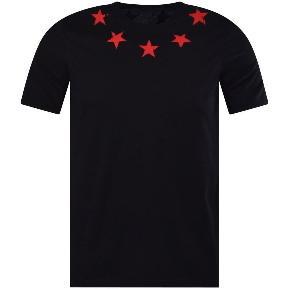 f02da3330496f6 GIVENCHY Black/Red Star Print T-Shirt - Department from Brother2Brother UK