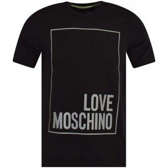 c227a6ba47492d Black Reflective Box Logo T-Shirt · LOVE MOSCHINO ...