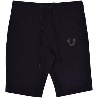 3ba33cfb Black Reflective Horseshoe Shorts. TRUE RELIGION ...