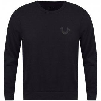fb0de32c8 Black Reflective Logo Sweatshirt. TRUE RELIGION ...