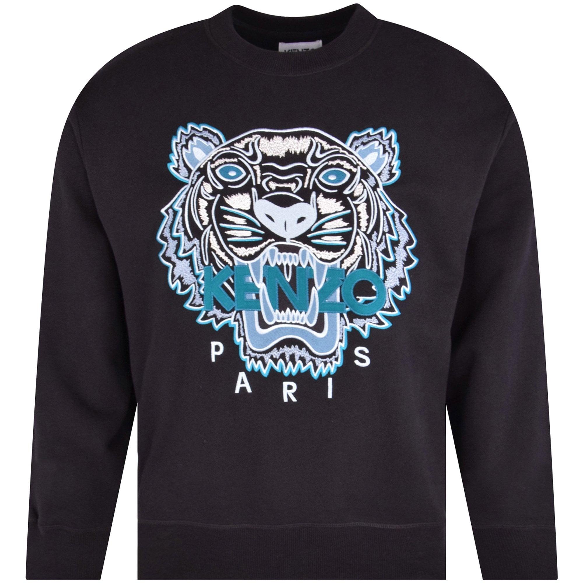 KENZO Black Tiger Crew Neck Sweatshirt