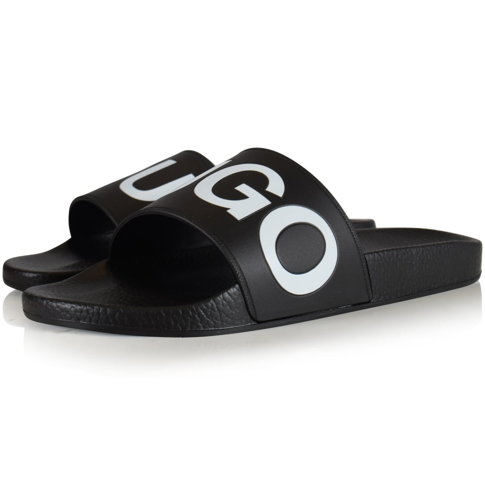 a23106967fc3 HUGO FOOTWEAR Black Timeout Sliders - Men from Brother2Brother UK