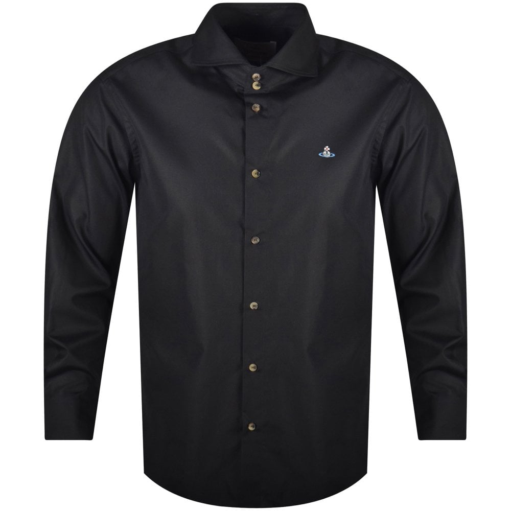 2b6560850c36 VIVIENNE WESTWOOD Black Two Button Cutaway Long Sleeved Shirt - Men from  Brother2Brother UK