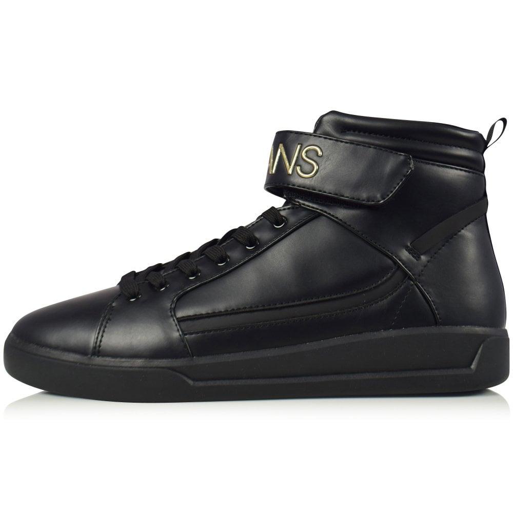 dde70c599b9 Black Velcro High Top Trainers