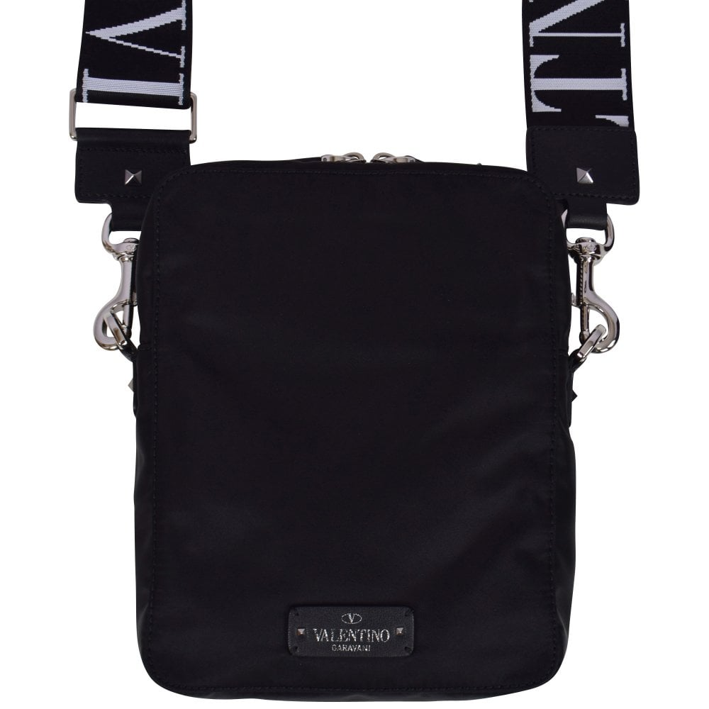 8768a2ac25a92 VALENTINO Black VLTN Cross Body Bag - Men from Brother2Brother UK