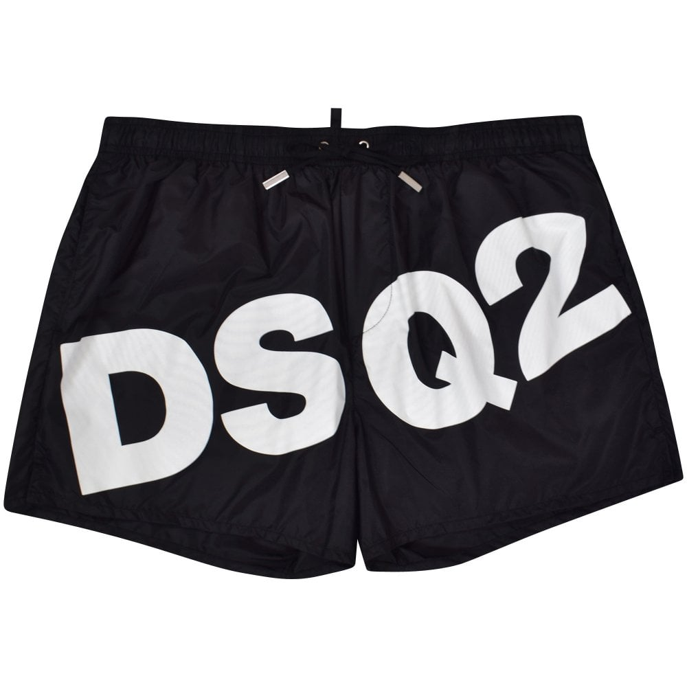 6f0803d29f701 DSQUARED2 Black/White DSQ2 Swim Shorts - Men from Brother2Brother UK
