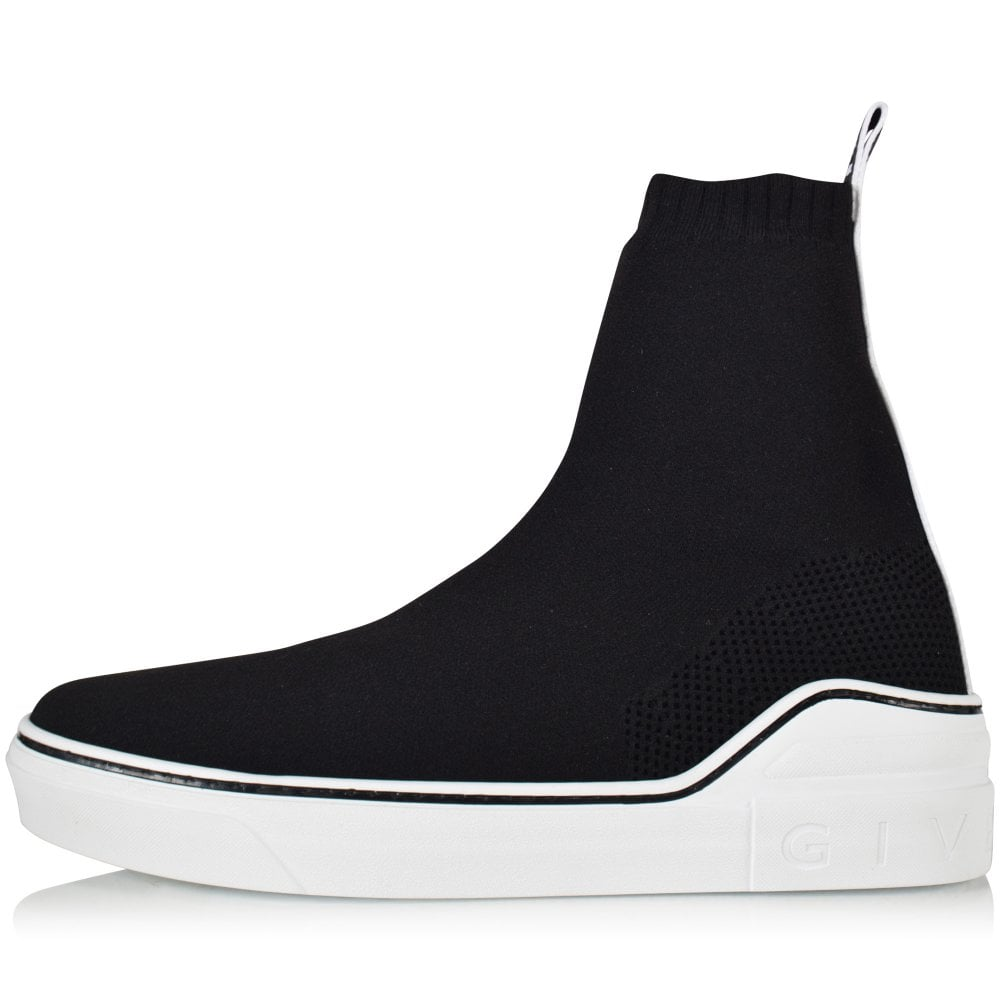 bfec567835e GIVENCHY Black White George V Mid Sock Trainers - Men from ...