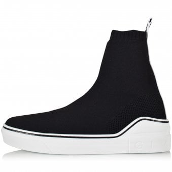 GIVENCHY Black/White George V Mid Sock Trainers
